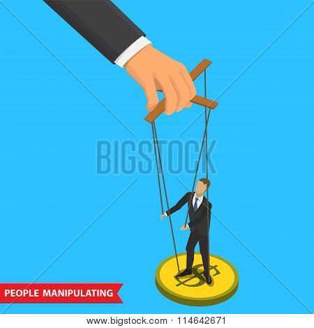 people manipulating illustration