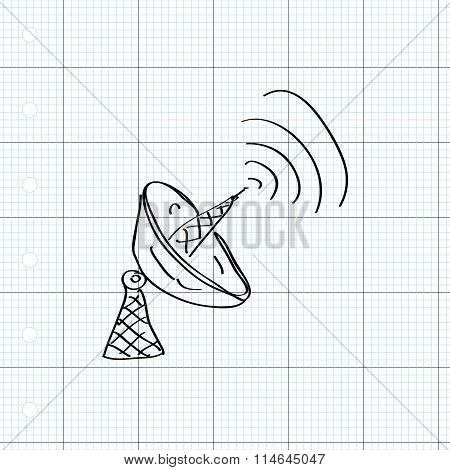 Simple Doodle Of A Satalite Dish