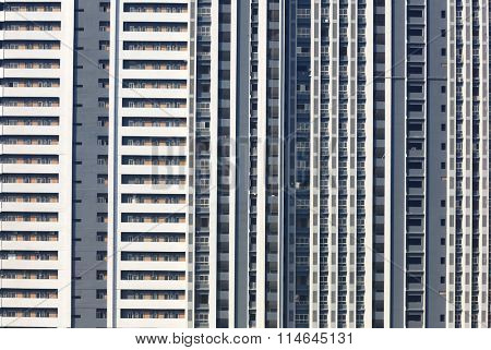 Newly built huge apartment building