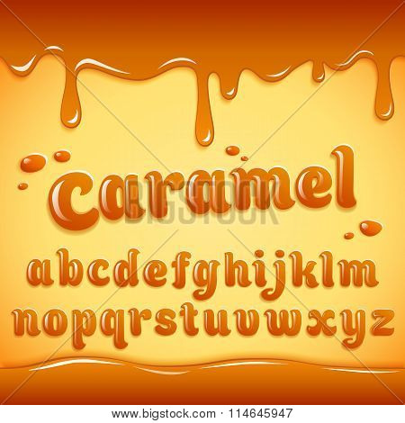 Llatin Alphabet Made Of Caramel