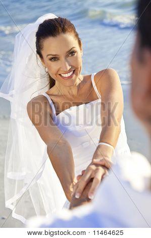 braut & bräutigam heiratete paar am Strandhochzeit