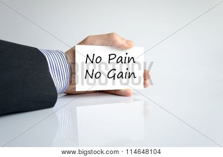 No Pain No Gain Text Concept