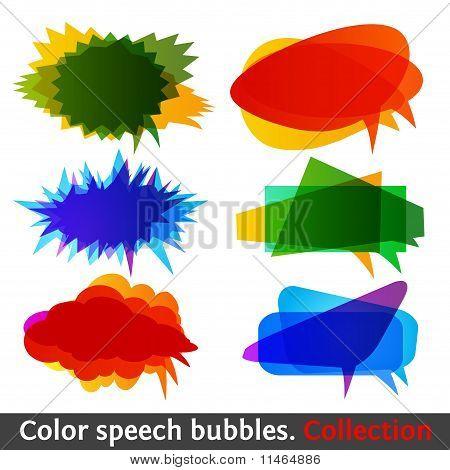 Color Speech Bubbles Collection Eps10