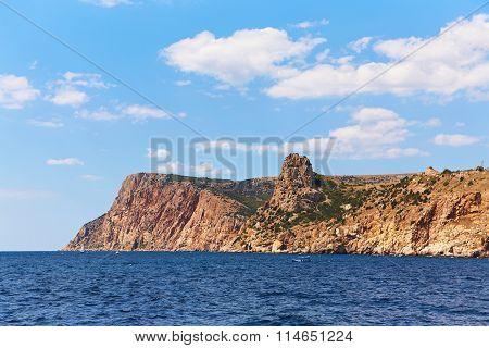 scenic rocky seaside