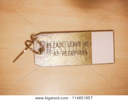Hotel Room Key Vintage