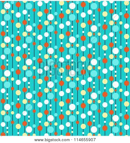 Seamless bright fun abstract vertical pattern with circles