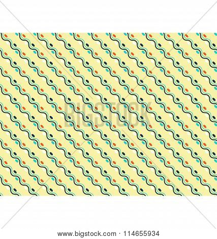 Seamless diagonal wave abstract pattern