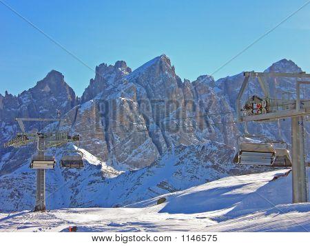 Ski Lift  Dolomiti Alps Italy