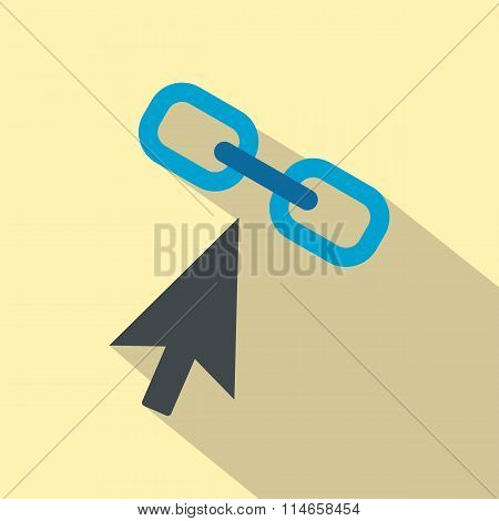 Chain link flat icon