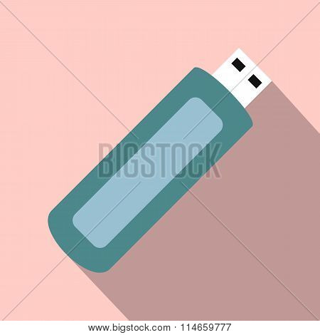 USB flash drive flat icon