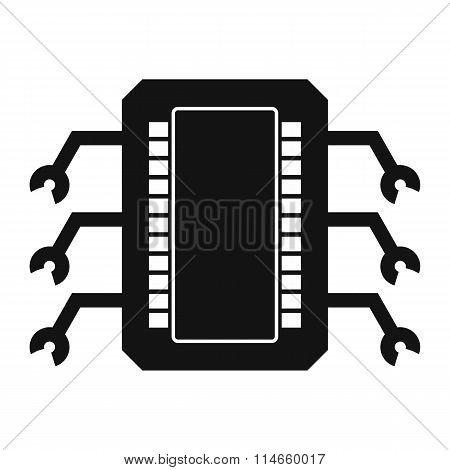 Microchip black simple icon