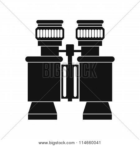 Black binoculars icon