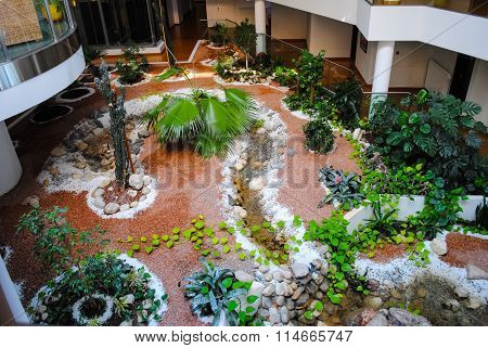 Office Building With Flowerbed Inside