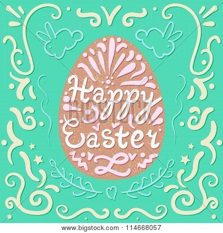 Vintage Happy Easter Lettering