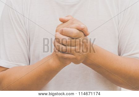 Body Language Of Man - Pray For God's Blessing Cross