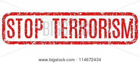 Red Grunge Stop Terrorism