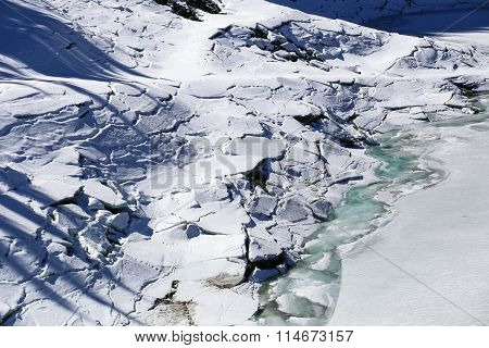Ice Floes In South Tyrol