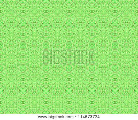 Seamless circle pattern bright green