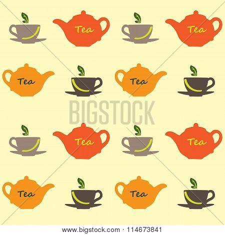 Tea Vector Pattern