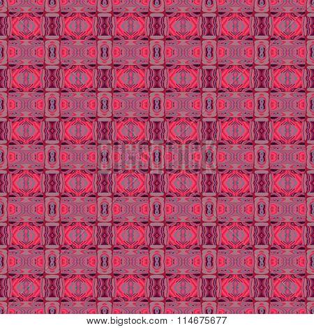 Seamless diamond pattern red purple brown
