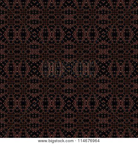 Seamless diamond pattern dark brown orange