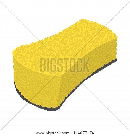 Sponge wiping cartoon icon