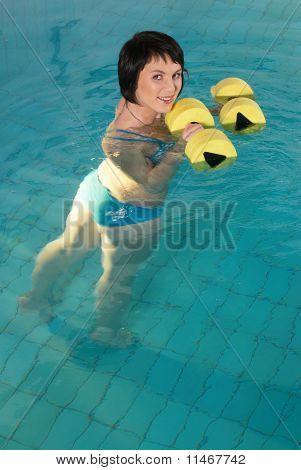 Aquaaerobic girl