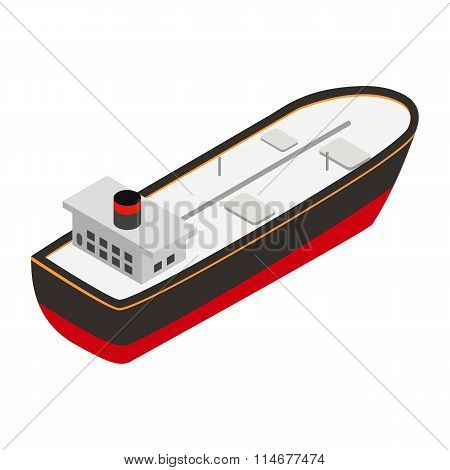 Oil tanker isometric 3d icon
