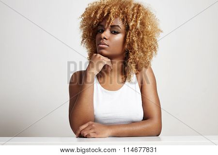 Beauty Blondy Afro Woman