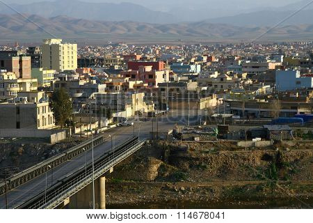 Zakho City in Kurdistan.