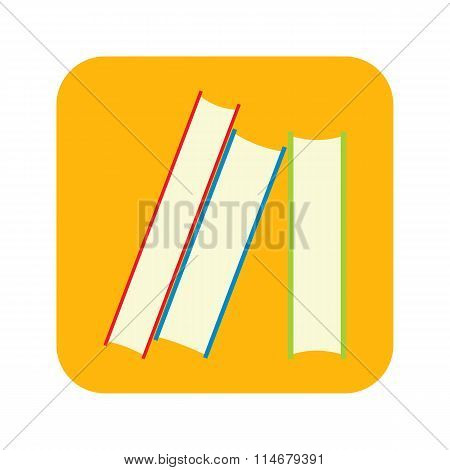 Stack of books flat icon