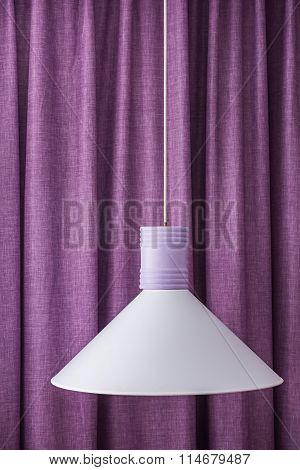 White Lampshade Hanging