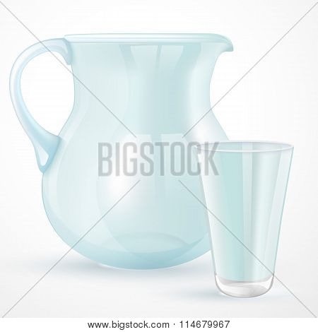 Empty Glass And Jug