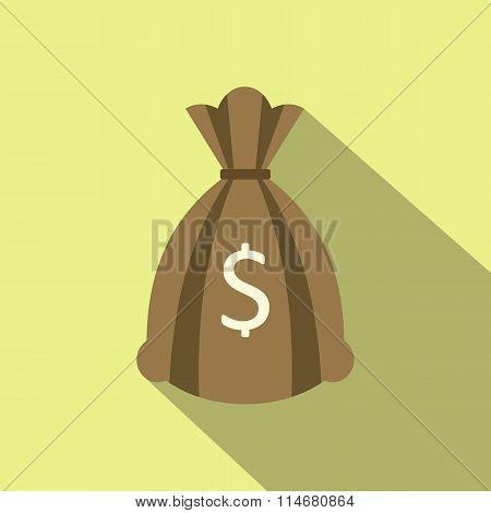 Money bag or sack flat icon