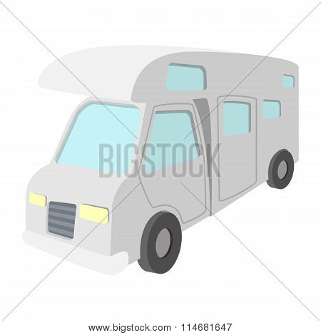 Mobile home truck cartoon icon