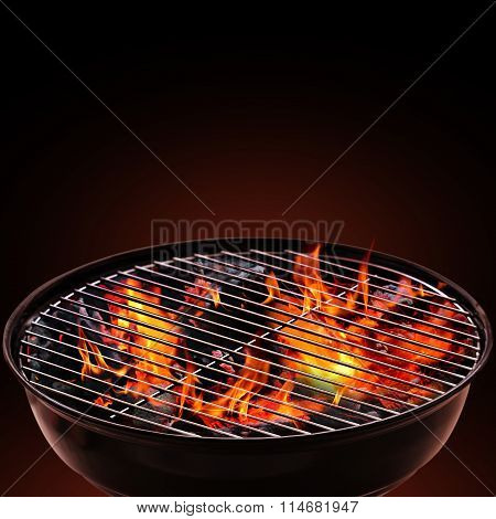Barbecue Grill on Black Background