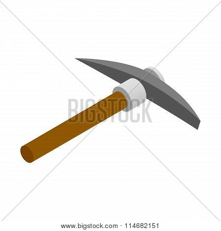 Pickaxe isometric 3d icon