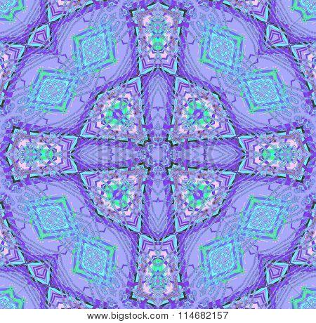 Seamless circle pattern purple blue