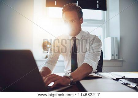 Executive Working On Laptop