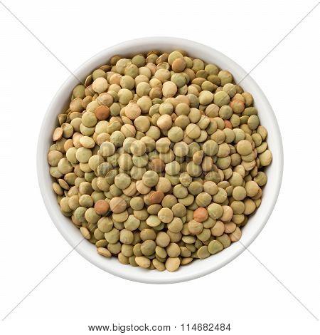 Lentils In A Ceramic Bowl