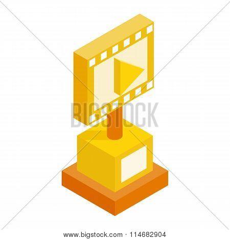 Movie award isometric 3d icon