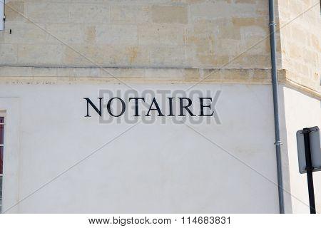 Notary Symbol  Vector Logo Design Template.