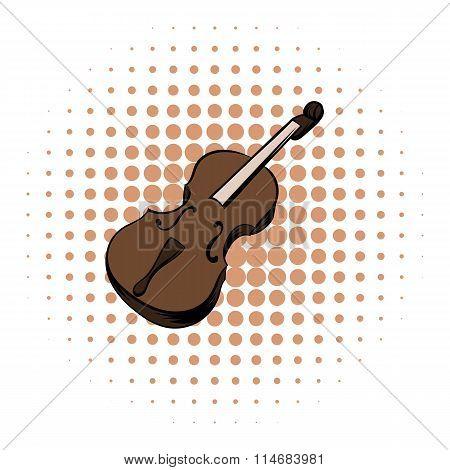 Violin comics icon