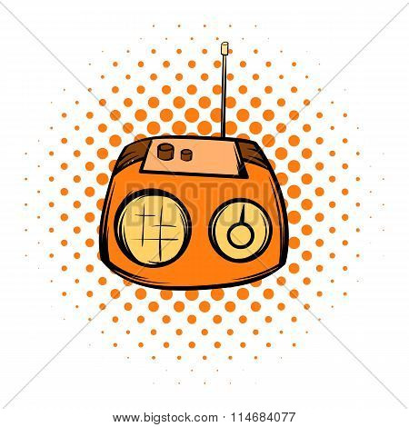 Boom box or radio cassette tape player comics icon