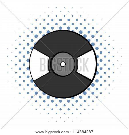 Vinyl record comics icon