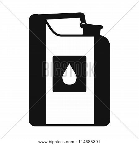 Jerrycan oil black simple icon