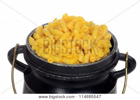 macro macaroni and cheese in pot