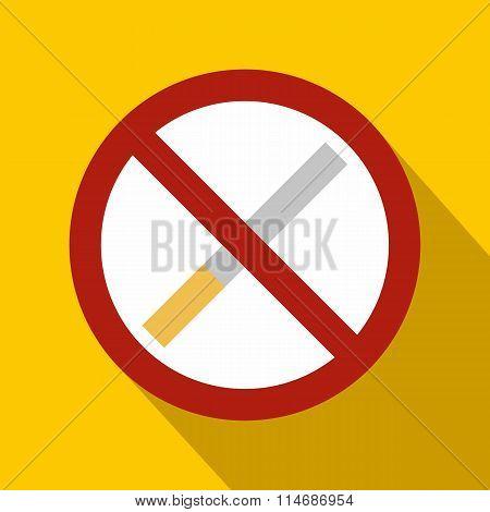No smoking sign flat icon