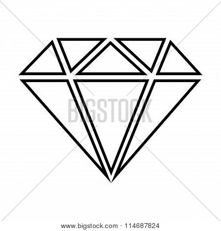 Diamond line icon