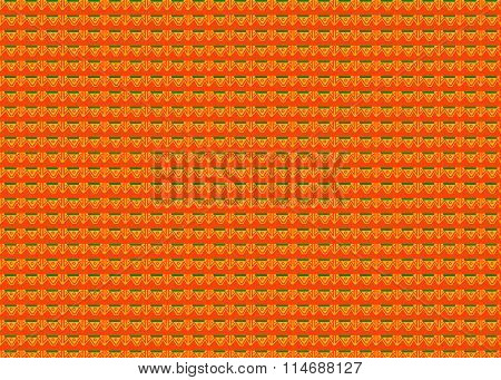 Tribal Aztec Geometrical Pattern On Orange